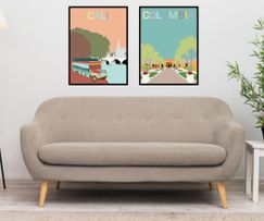 Art prints from Cali and Santa Marta, Colombia