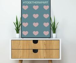 Art print #togetherapart
